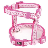 "3/8"" Pink Adjustable Jacquard Dots Step in Dog Harness for Small Dog Ship to your FBA directly"