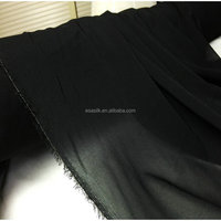12m/m black stretch silk Georgette fabric