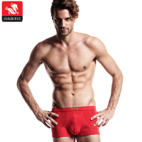 Wholesale custom pattern printed handmade red cotton underwear men boxer briefs