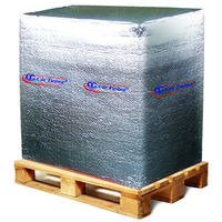 Metalized bubble insulation for packing and wrapping cargo