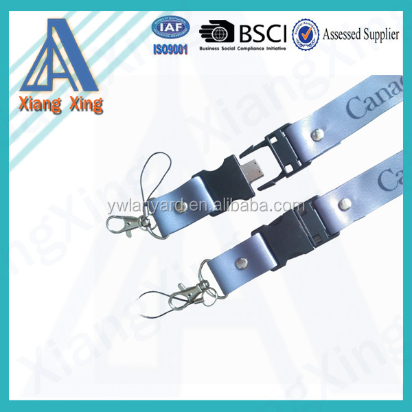 Promotional custom usb flash drive with lanyard