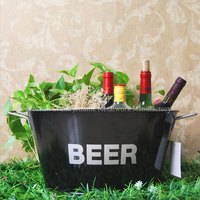 galvanized tubs oval wine beer metal ice bucket