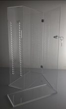 wholesale factory clear custom fashion acrylic lucite jewelry display case box with lock