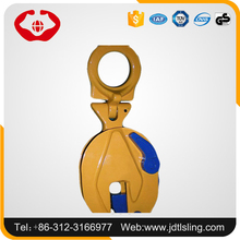 ISO9001 Drop forged vertical steel pipe steel plate lifting clamp with high safety
