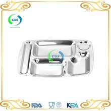Stainless steel fast food serving trays for restaurant using and low price
