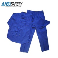 royal blue new coverall work two piece overalls