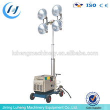 220V portable mobile light tower diesel floodlight tower generator - LUHENG