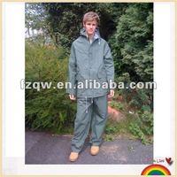 Outdoor waterproof heavy duty rainsuit pvc polyester uniforms