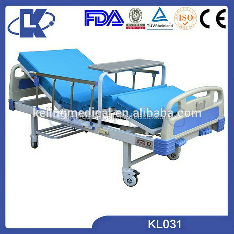 hospital bed with table hospital bed spare parts 3 positions nursing home beds