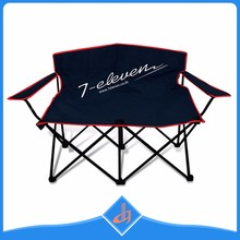 Custom large outdoor fold double seat camp chair for kid