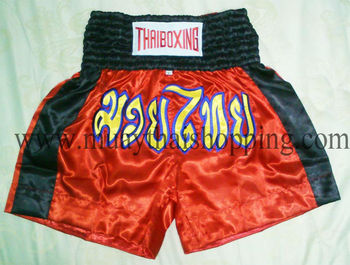 Muay Thai Boxing SHORTS Pants Nylon/Satin