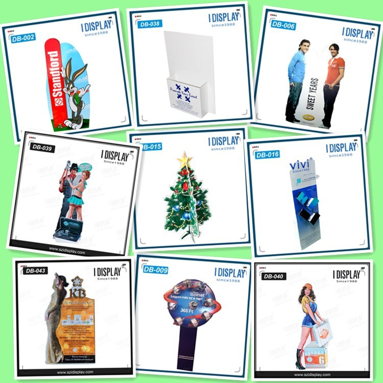 Whoesale cheap advertising cardboard roll up display standee
