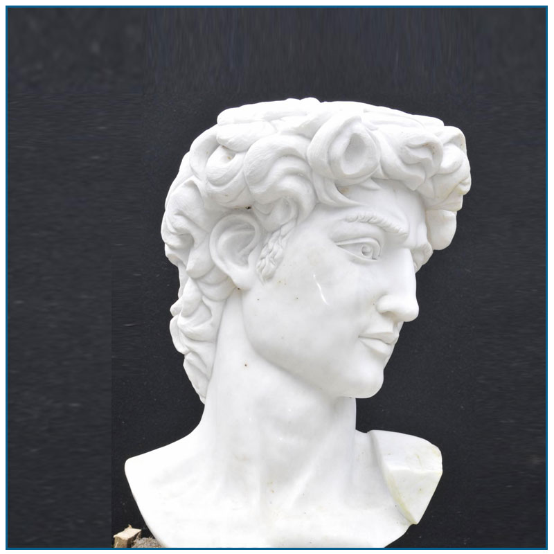 Famous Life Szie David White Marble Bust Statue