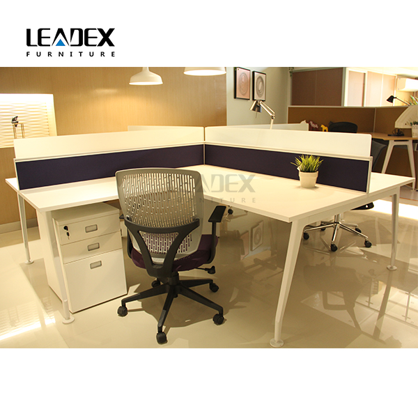 4 Seat 5MM Frosted Temperedoffice Workstation Cubicle
