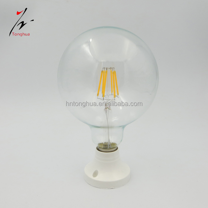 E27 6W LED Filament Bulb Dimmable Decorative Led Light Bulb G125 110v/220v