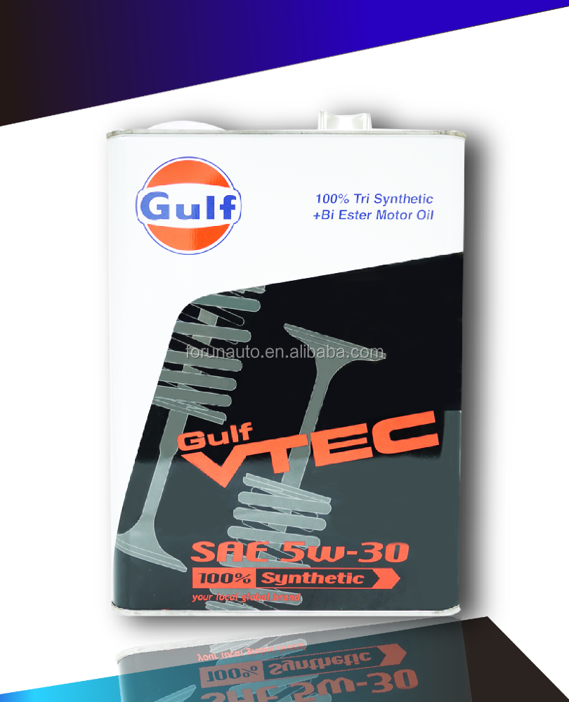Japan imported GULF VTEC 5W30 Diester+PAO fully synthetic motor oil