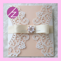 2017 fashion in style birthday invitation card 3d paper craft model QJ-38
