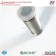 OEM ODM customized Stainless steel high polished hollow threaded rod with plastic cap