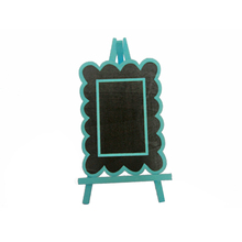 FQ brand Chalkboard wedding decoration children Mini wooden blackboard with stand for table decoration wood Lace type blackboard
