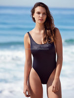 Australian girl model high cut one piece low scoop back sexy bikini