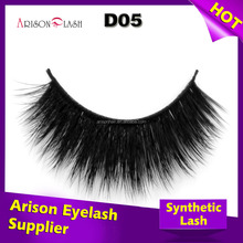 Free samples custom private label luxury 3D synthetic lashes cheap sale colorful false eyelashes