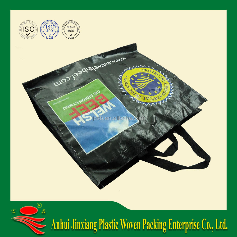 Recyclable environmental pp plastic woven shopping bags