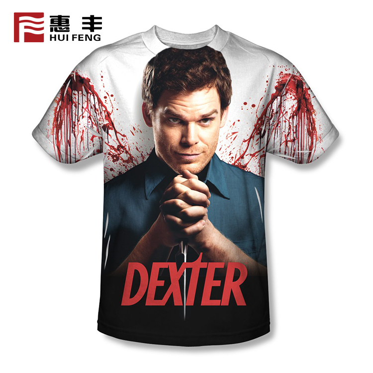 full print t shirt  for sublimation , 100 polyester t shirts wholesale
