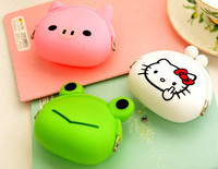 factory price Cheap cartoon animal silicone coin purse /New arrival Cute Rubber Cosmetic Bag with 34 Patterns for choice