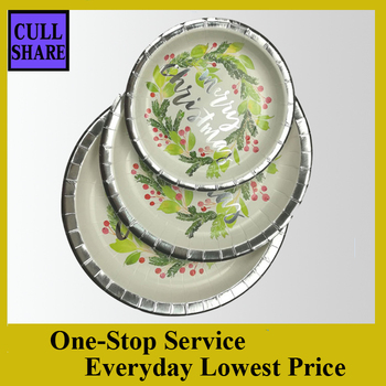 Different sizes good quality disposable paper plates candy cane  sc 1 st  Hangzhou Cullshare Trading Company & Paper plate only Paper plate only direct from Hangzhou Cullshare ...