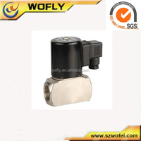 high frequency Stainless Steel body Viton Seal 12vdc high temperature solenoid valve 1/4