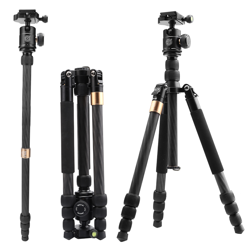 Professional carbon fiber tripod for camera travel dslr tripod for video digital 10kg load ball head tripod camera