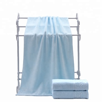 100% cotton cool blue soft bath towel in los angeles wristband
