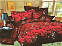 fabric painting designs cushion cover/3d bedding 4pcs bedsets packing