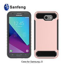 sublimation custom carbon fiber lines cell phone case for samsung galaxy j3 mobile back cover