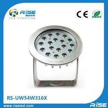 Super brightness 54w underwater lamps interior led boat lights