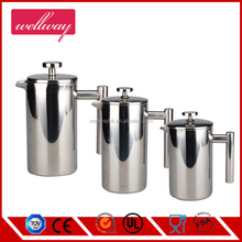 double walled Stainless Steel Coffee Press vacuum coffee maker mini coffee maker