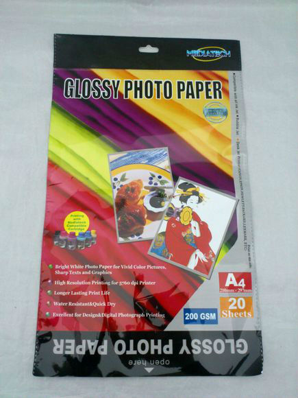 OPP bags packaging for Glossy Photo Paper/Photo Paper Packaging Bags/Plastic Photo Paper Packaging Bags