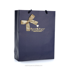 royal blue fancy gift bags with ribbon design and pp rope
