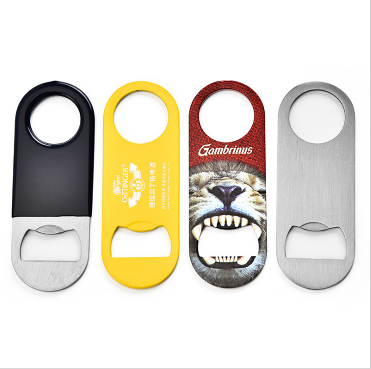 wholesale stainless steel beer bottle opener PVC plate opener beer bottle