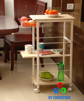 hot selling wooden hotel furniture mobile food cart with wheels