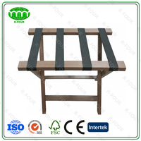Hotel Baggage Holder Wooden Luggage Rack