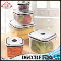 NBRSC 5 PCS Plastic Vacuum Food Storage Container in Square Shape Easy Storage Food Container