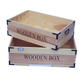 factory price Natural Color Wood Craft Wooden Crates,Wooden Boxes