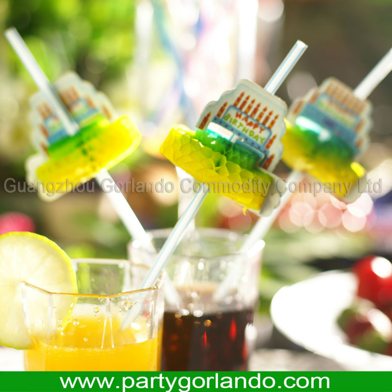 fancy cool plastic drinking cocktail decorative straws