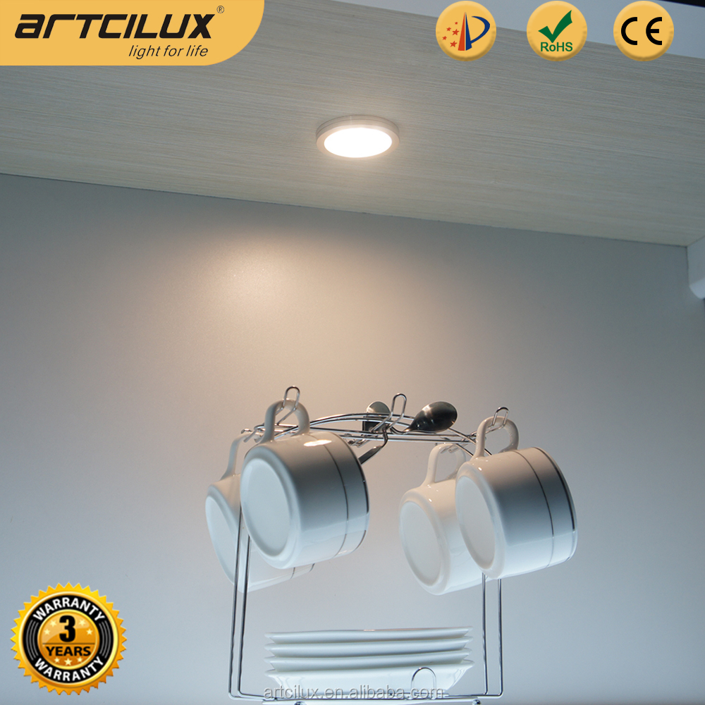 Artcilux 12V Mini LED Lights, Round LED Light For Cabinet / Shelf / Bookcase