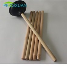 Wholesale Eco-friendly 20mm diamete wooden plunger handle with thread