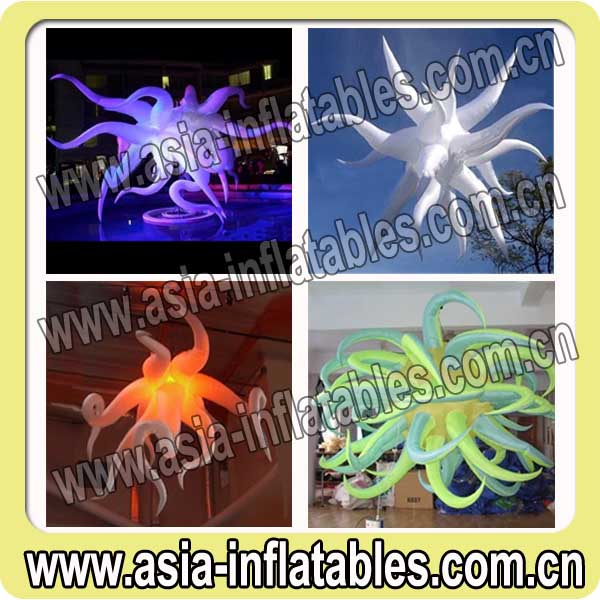 2 Year Guaranteed inflatable tusk stars with inside light for stage