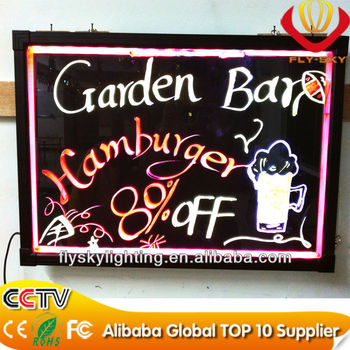 wow!!super bright waterproof led writing board with CE&ROHS Certificate Factory Direct and wholesale