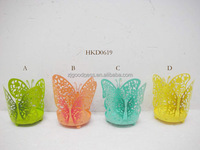 butterfly shaped candle lantern metal candle holder votive holder