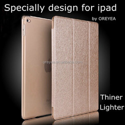 Hot Sale Silk Grain Ultra Thin Leather Case for apple ipad air 2 mini1234 air 1 Cover Factory outlet